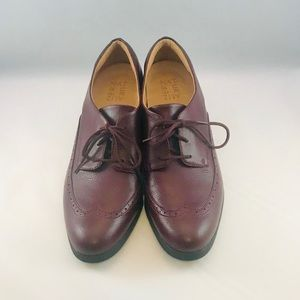 Naturalizer Maroon Wing Tip Herlie Lace Up Oxfords